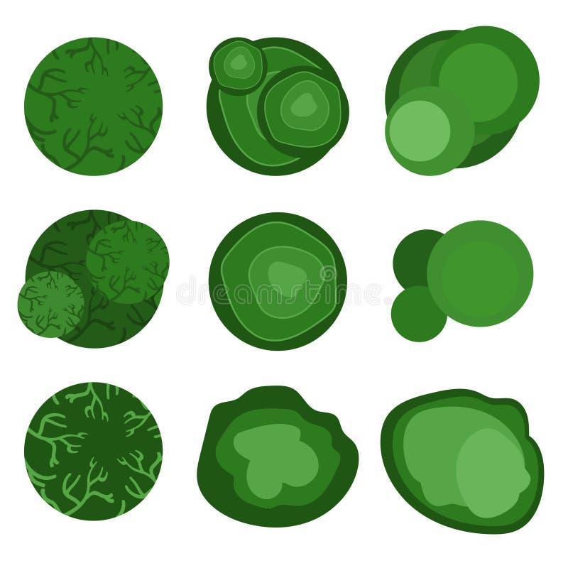 风景设计的顶视图 也corel凹道例证向量 向量例证