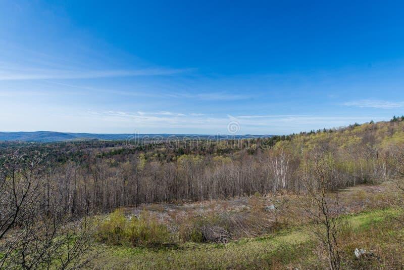 风景豚脊丘的山在绿色山国家公园俯视  免版税库存照片