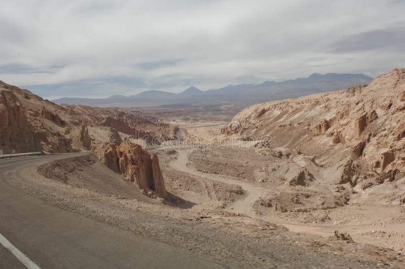 风景路向圣佩德罗火山 免版税库存图片