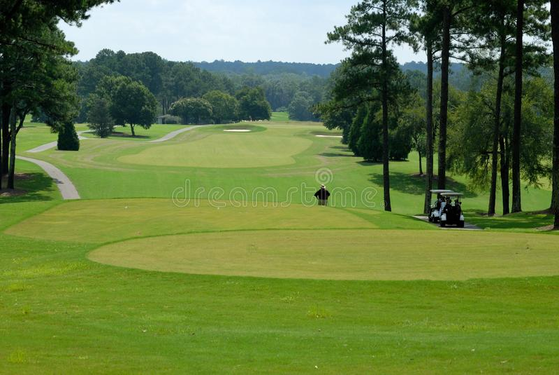 风景路线的高尔夫球 免版税图库摄影