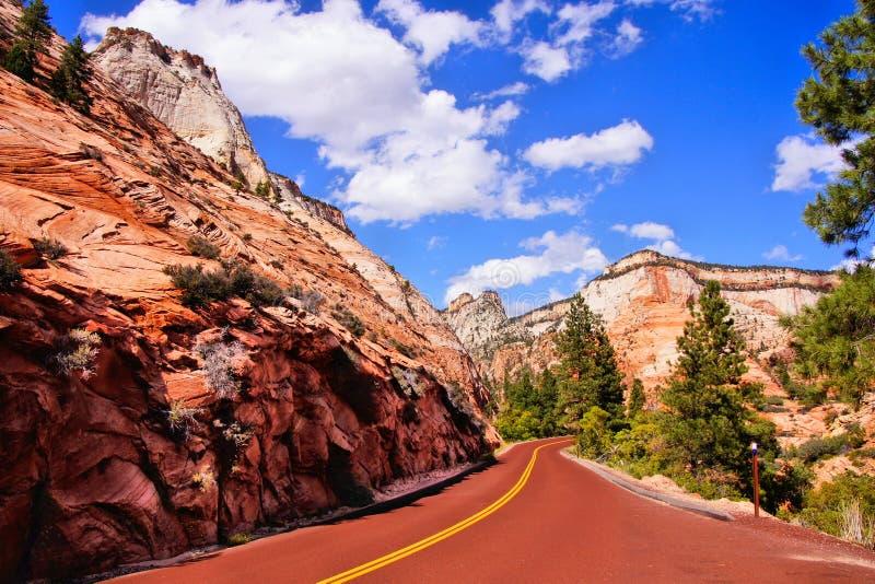 风景锡安国家公园,美国 免版税库存图片