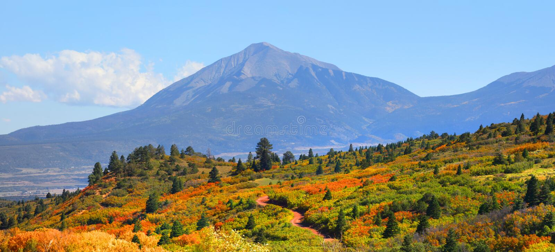风景风景在南科罗拉多 库存照片