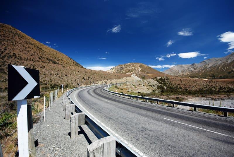 风景高山路 免版税图库摄影