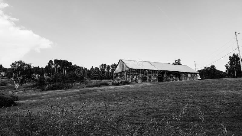 风景,农厂房子魁北克 免版税图库摄影