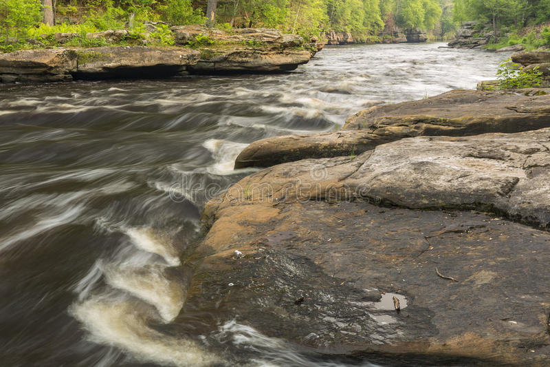 风景水壶的河 库存图片