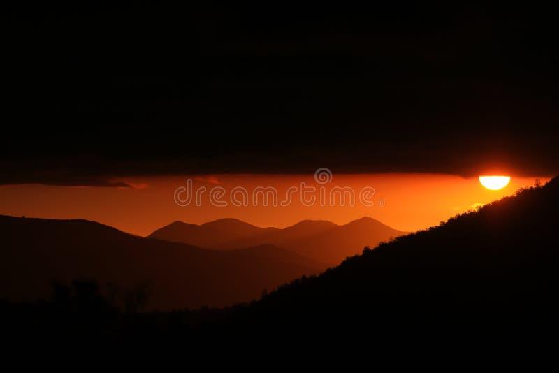 风景-日落-南美洲 库存图片