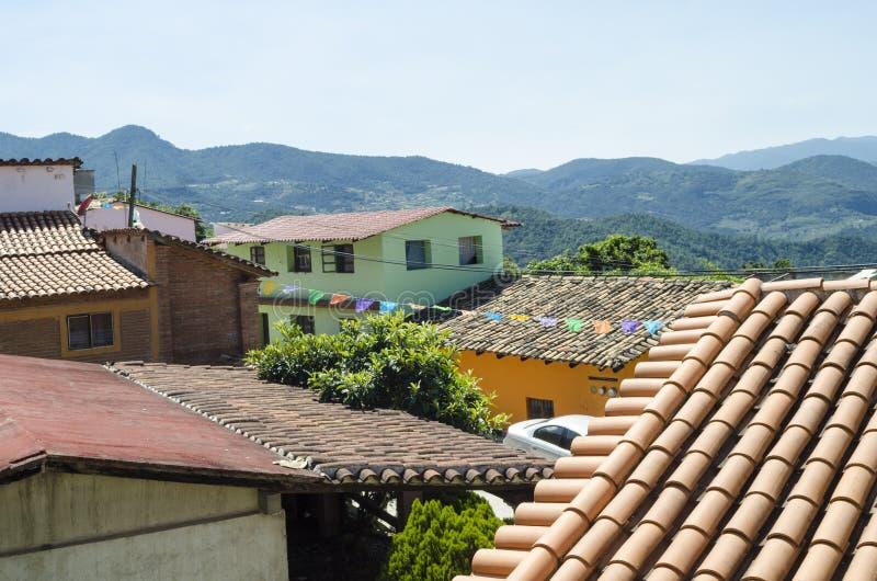 风景 Capulalpam de门德斯 瓦哈卡,墨西哥 免版税图库摄影