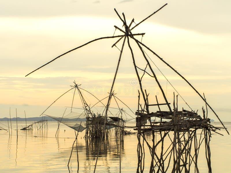 风景从phattalung专区的日出时间 免版税库存图片
