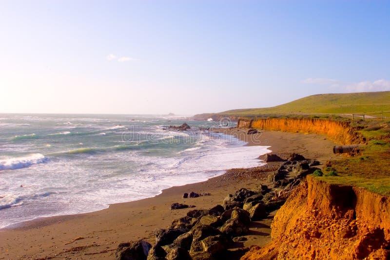 风景1条加州海岸的高速公路 免版税库存图片