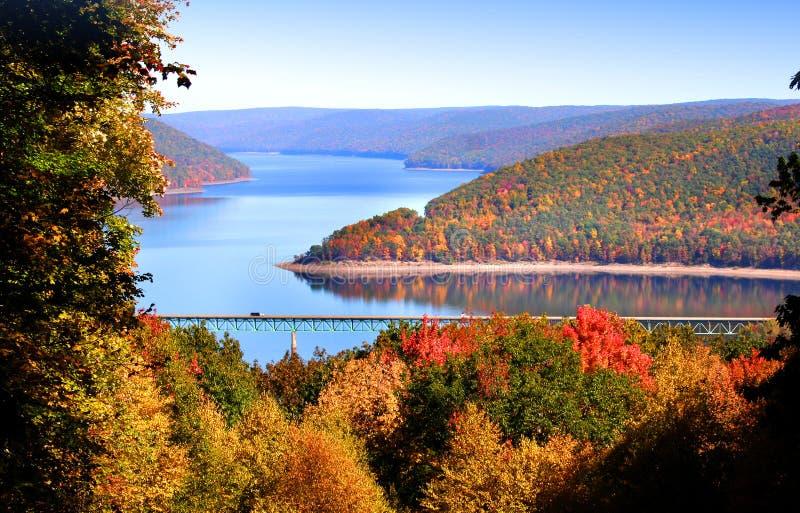 风景allegheny秋天的横向 免版税库存照片