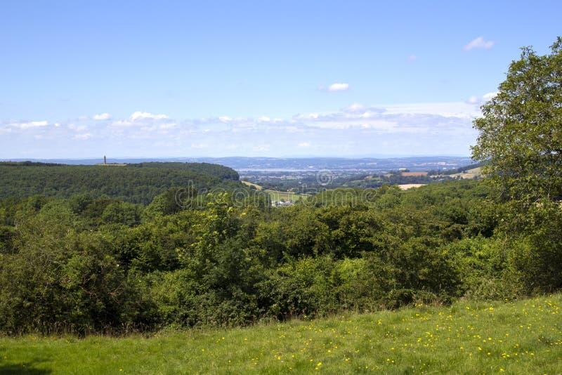 风景Cotswolds -在边缘下的Wotton附近 免版税库存照片