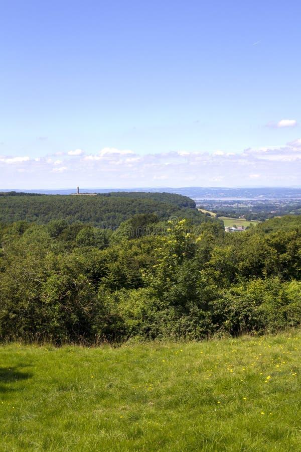 风景Cotswolds -在边缘下的Wotton附近 免版税库存图片