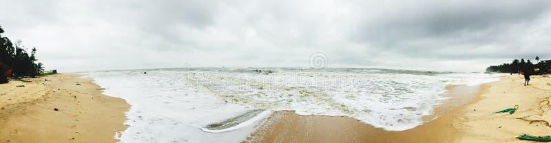 风景Kodi海滩的一幅全景 库存图片