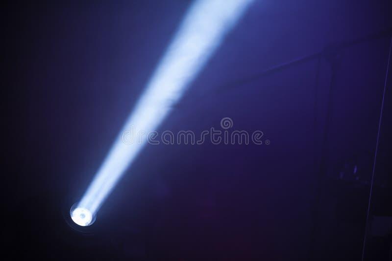风景LED斑点光光芒在黑暗的 免版税库存照片