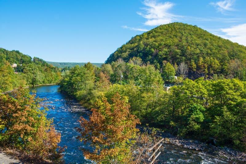 风景Lehigh河 免版税图库摄影