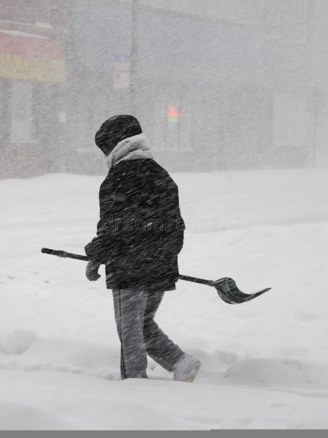 风暴冬天 图库摄影
