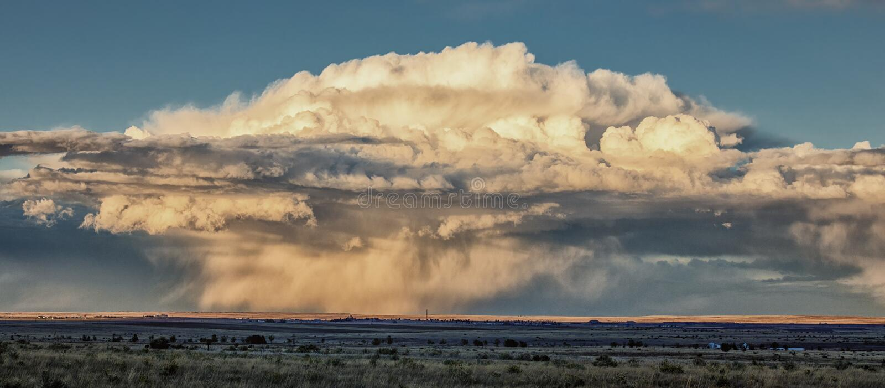 风暴在普莱恩斯中西部 图库摄影