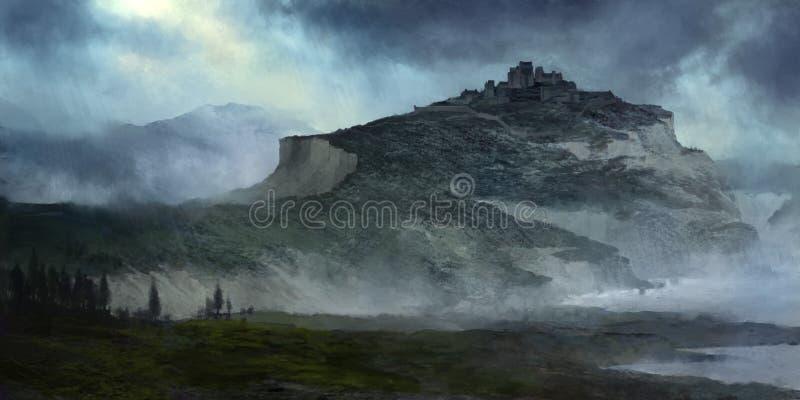风暴城堡例证 库存照片