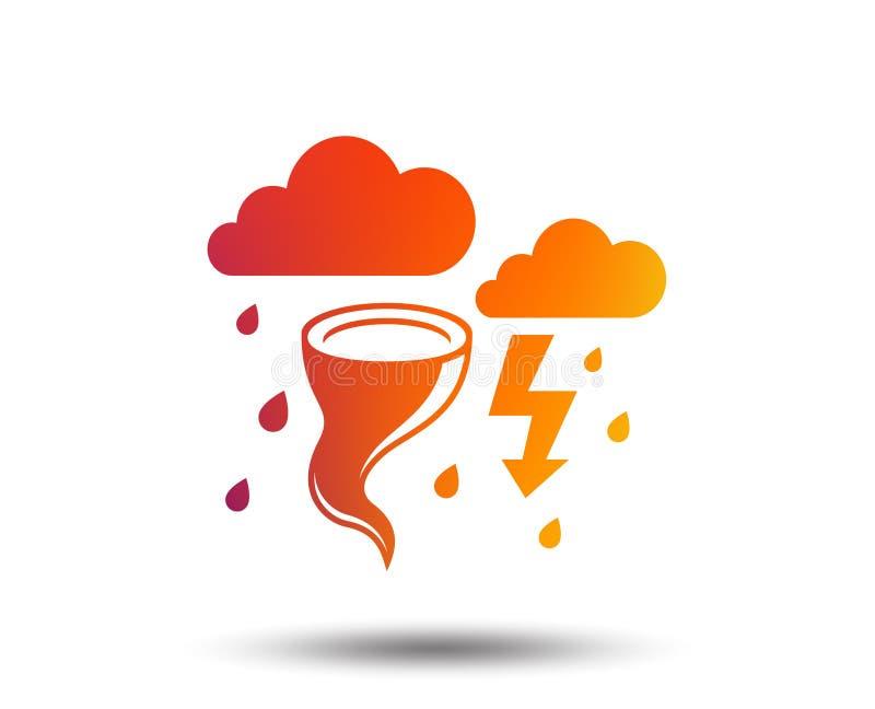 风暴恶劣天气标志象 大风飓风 向量例证