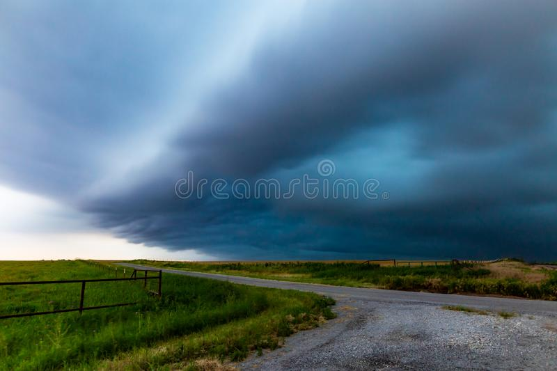 风暴长的曝光在北部得克萨斯 免版税库存照片
