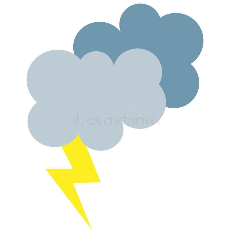 卡通闪电天气例证的简单的动画片符号网v卡通风暴图片