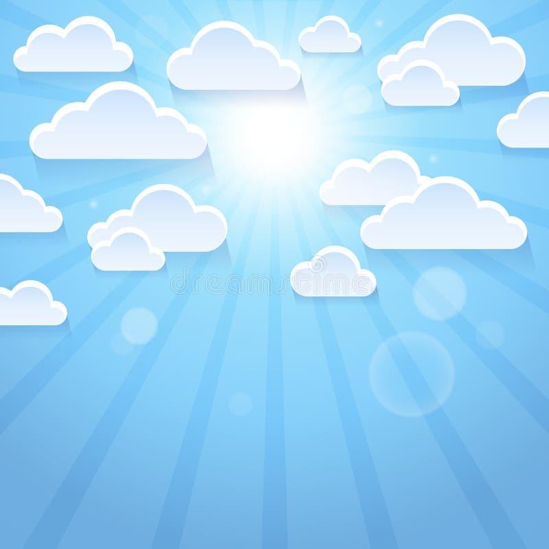风格化云彩题材图象3 向量例证