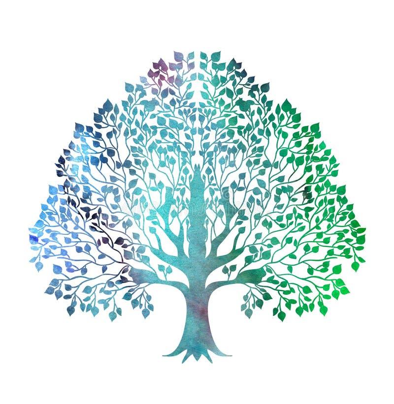 风格化五颜六色的树 皇族释放例证