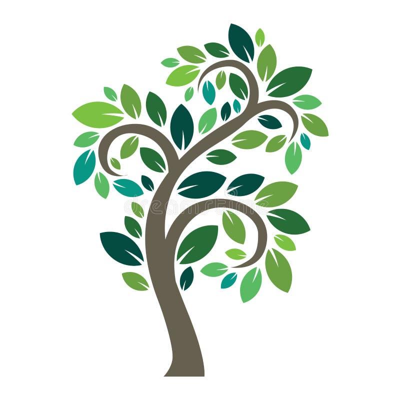 风格化传染媒介树商标象 向量例证