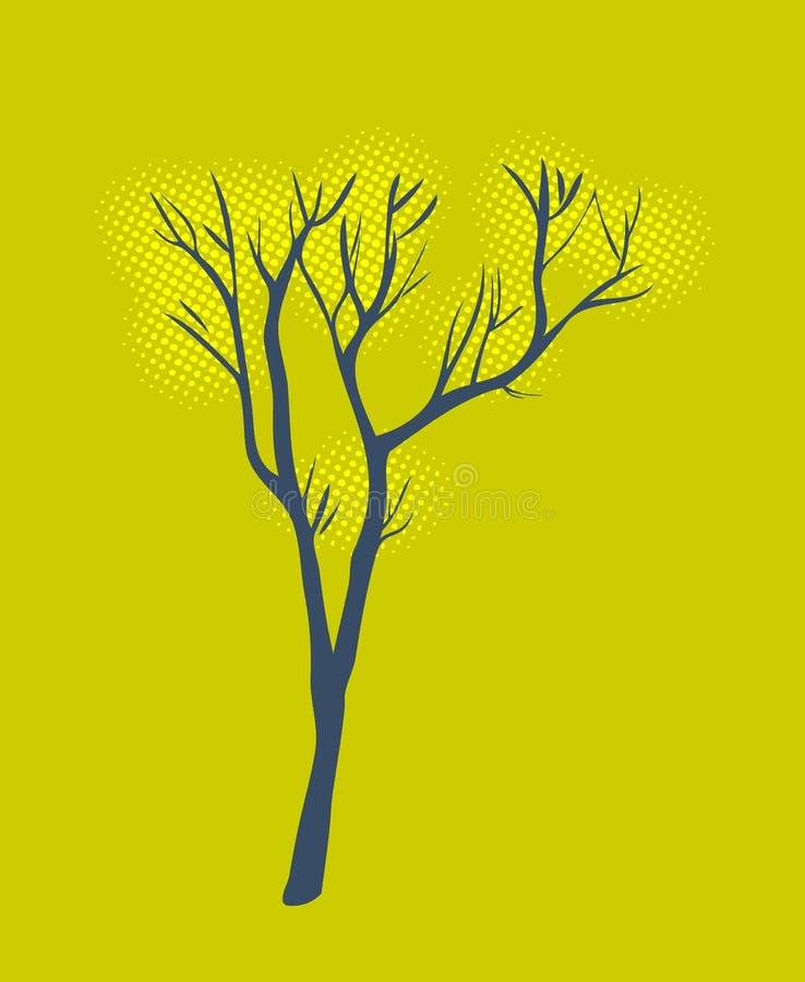 风格化唯一结构树 库存例证