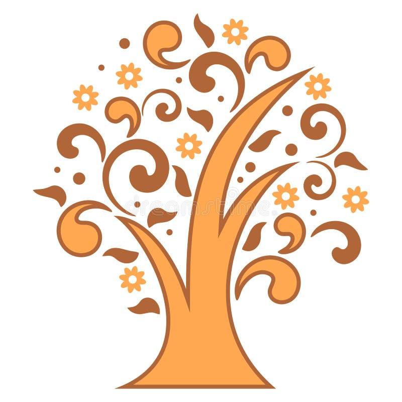 风格化树 皇族释放例证