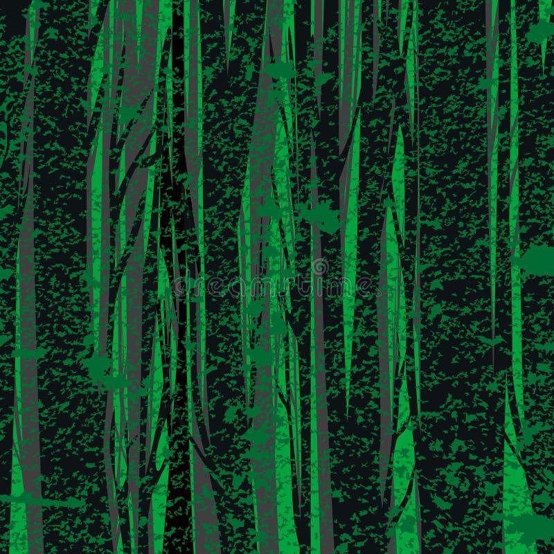 风格化森林背景 向量例证