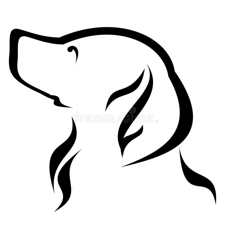 风格化狗商标设计 向量例证