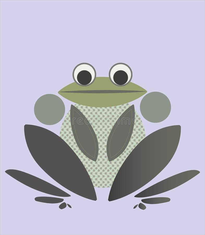 风格化的青蛙 库存例证