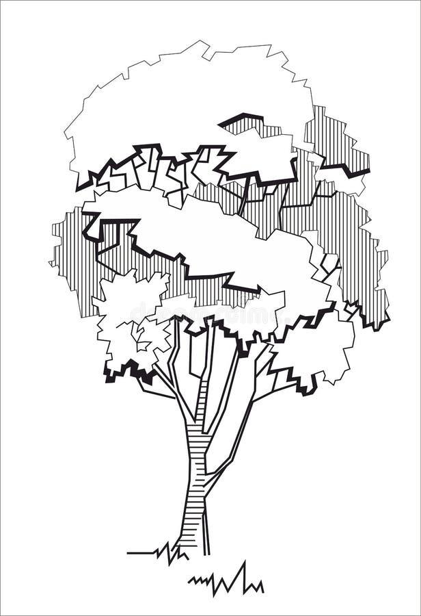 风格化结构树2 向量例证