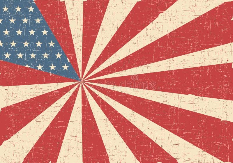 风格化美国旗子 库存例证