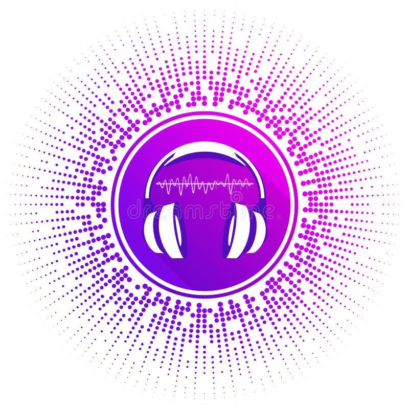 风格化耳机的传染媒介例证 库存例证