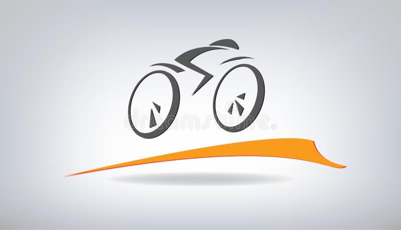 风格化自行车 皇族释放例证