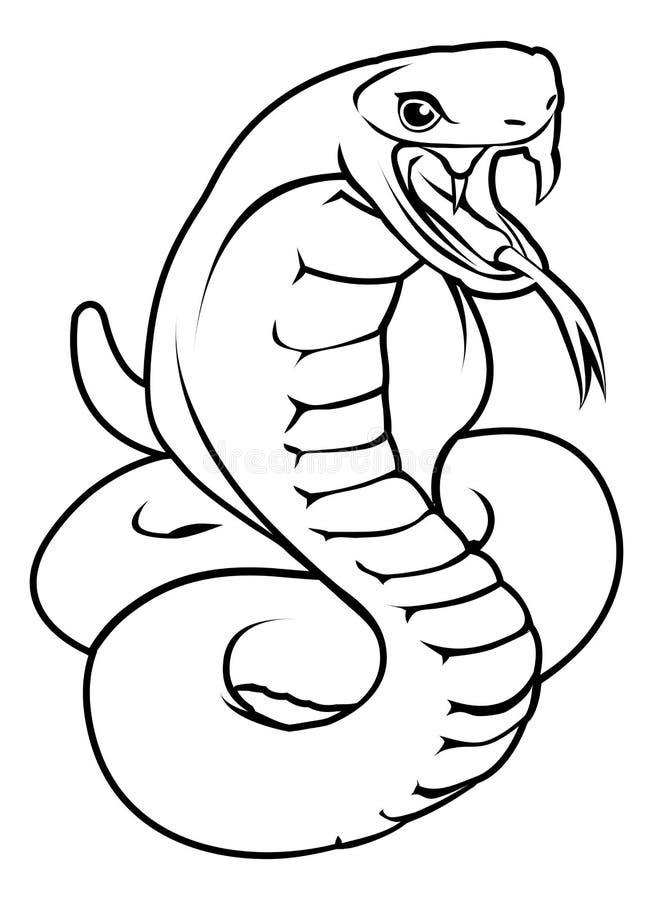 风格化蛇例证 库存例证