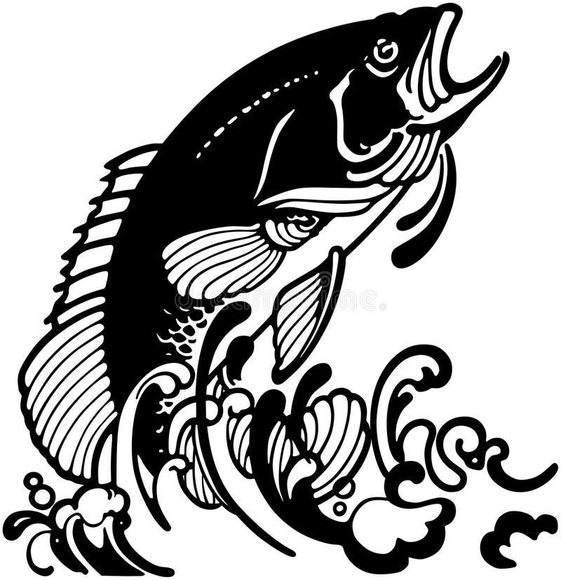 风格化跳跃的鱼 皇族释放例证