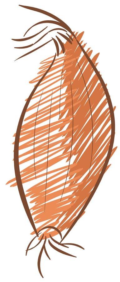 风格化青葱被隔绝的例证 向量例证