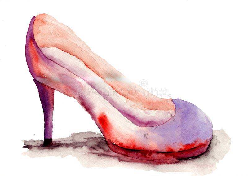 风格化鞋子 皇族释放例证