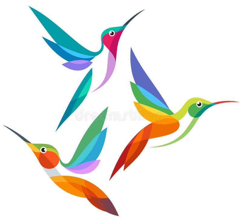 风格化鸟-传染媒介例证 向量例证