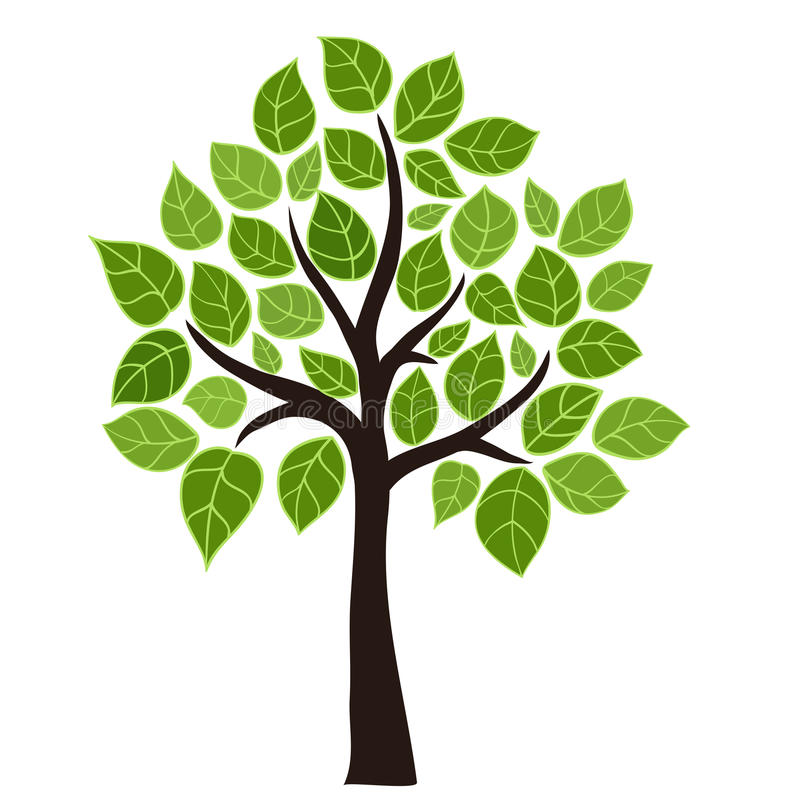 风格化结构树 库存例证