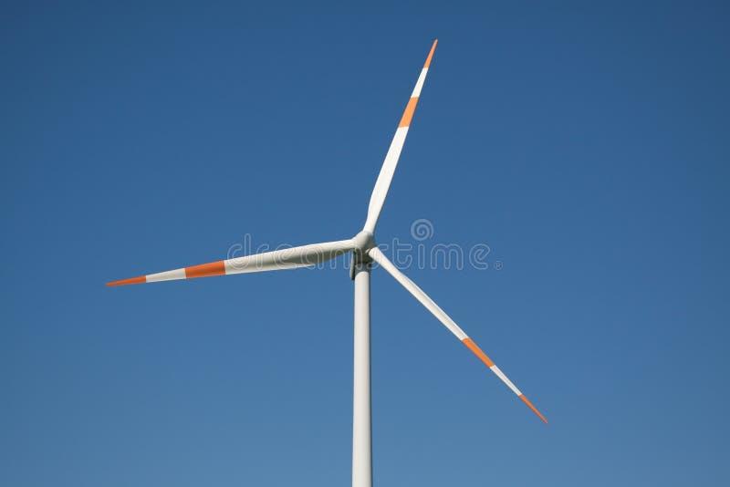 风的接近的电动子涡轮 库存图片