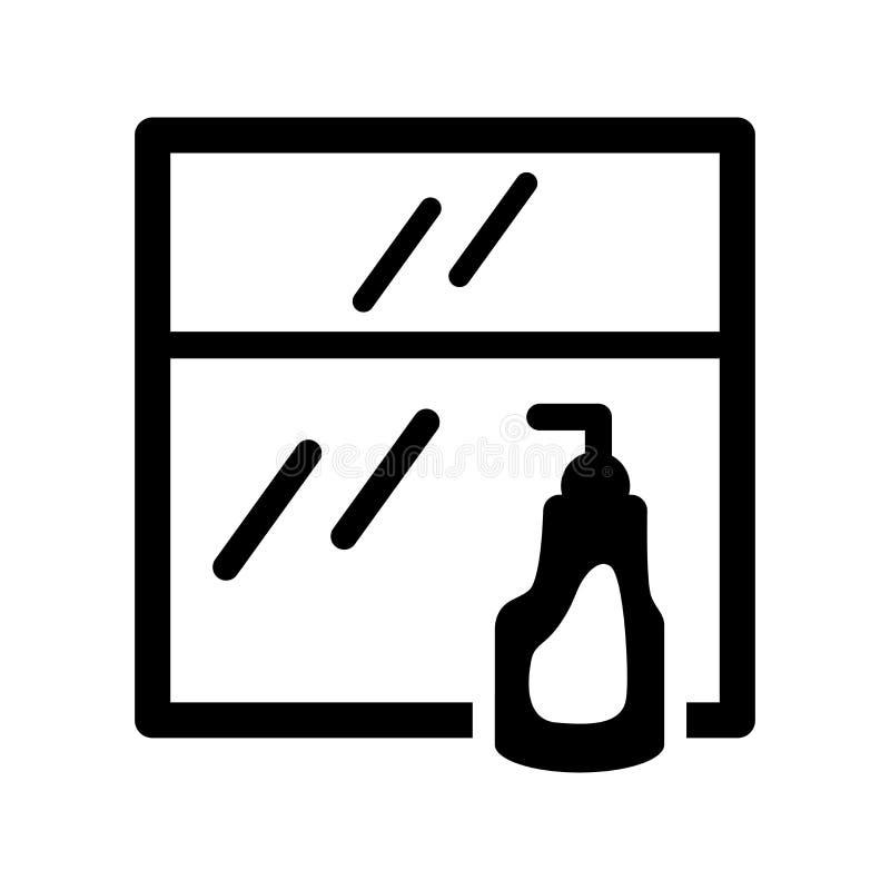风窗清洁器象 在白色的时髦风窗清洁器商标概念 库存例证
