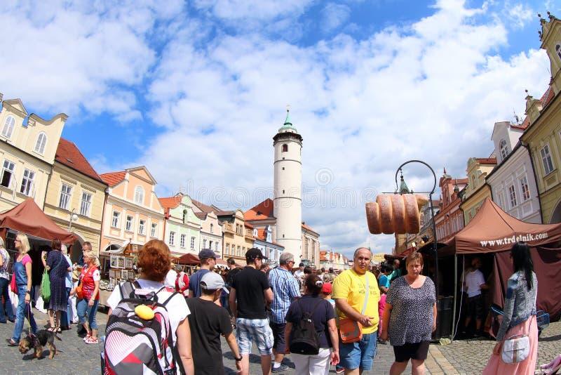 风笛节日Domazlice 2016年,捷克 免版税图库摄影