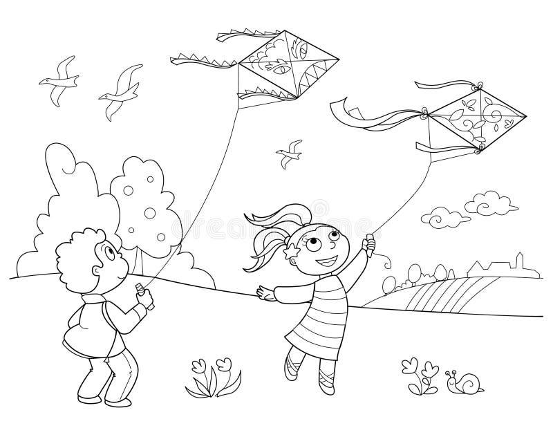 风筝使用 向量例证