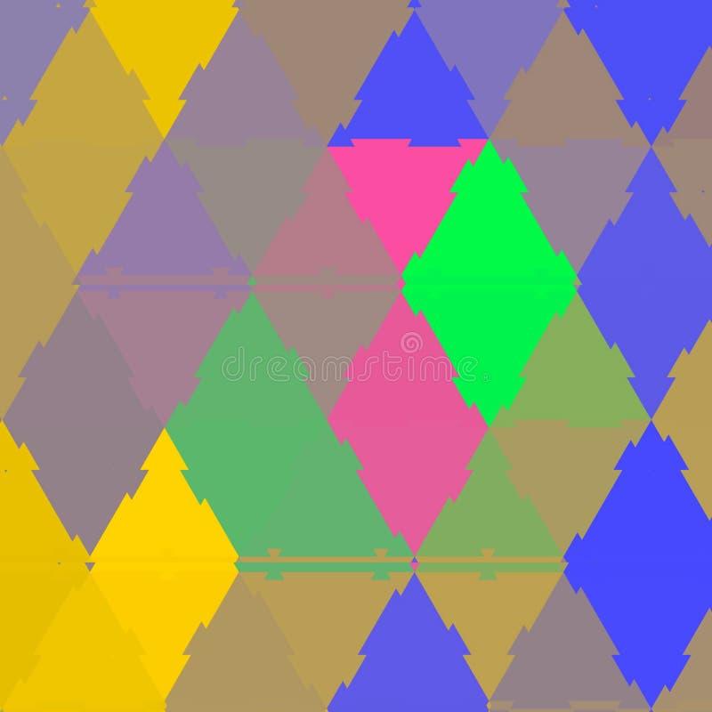 风筝明亮的五颜六色的马赛克明亮的补缀品 皇族释放例证