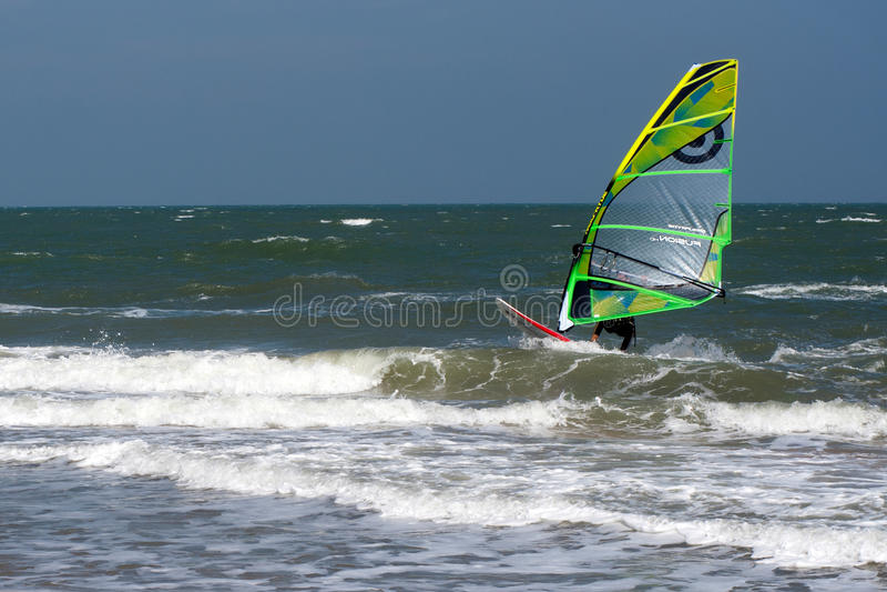 风筝海浪或风筝板,水上运动 免版税库存图片