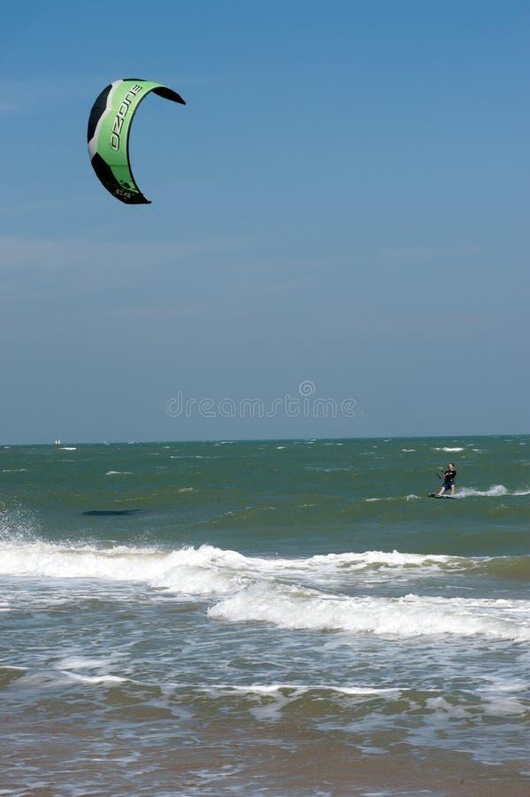 风筝海浪或风筝板,水上运动 图库摄影